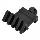 Aluminum Alloy Single Rail Barrel Gun Mount - Black