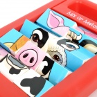 CB505 Popular Playthings Mix or Match 4 Farm Animals Puzzle