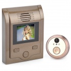 "KS-201C 2.0"" LCD 300KP Wide Angle Peephole Camera Door Viewer w/ TF Slot - Brown"