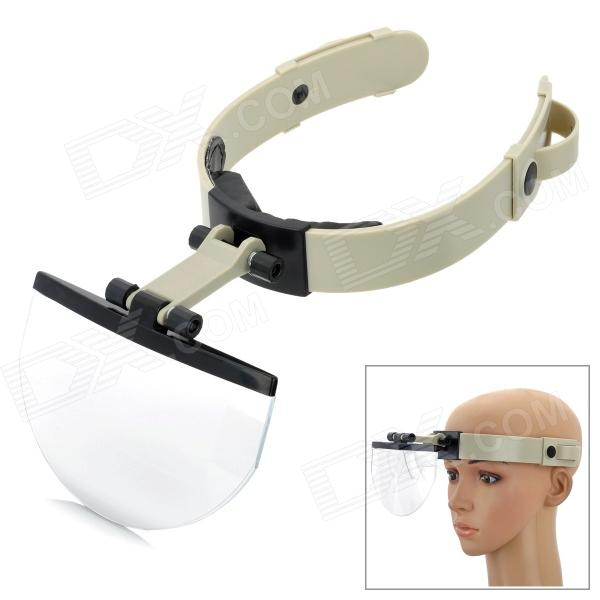 Creative Head Wear Style Magnifier with 4 Different Multiple Lens - Papyrus White light head magnifying glasses with 4 pieces different multiple lens 2 aaa