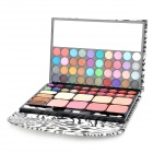 Leopard Pattern Case Professional 72-in-1 Cosmetic Makeup Kit - White + Black