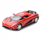 Multifunction Aluminum Alloy Pull Back Car Toy - Red + Black (3 x LR1130)