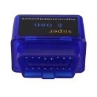 ELM327 Mini Bluetooth V1.5 OBD2 Auto Car Diagnostic Scanner Adapter Tool - Blue (DC 12V)