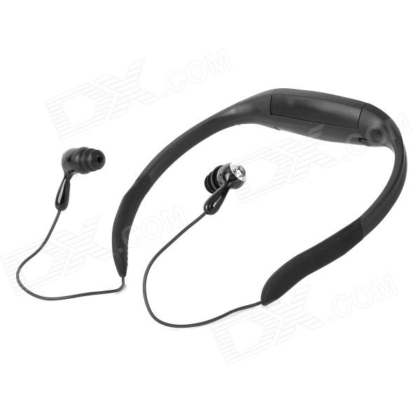Sport Waterproof Rechargeable In-Ear Headphone MP3 Player w/ FM Radio - Black (4GB) jintai dc power jack w cable replace for asus rog gl752 gl752v gl752vl gl752vw gl752vwm gl752vw dh71 gl752vw dh74 gl752vw rh71