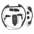 Sport Waterproof Rechargeable In-Ear Headphone MP3 Player w/ FM Radio - Black (4GB)