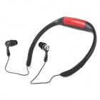 Sport Waterproof Rechargeable In-Ear Headphone MP3 Player w/ FM Radio - Red + Black (4GB)