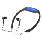 Sport Waterproof Rechargeable In-Ear Headphone MP3 Player w/ FM Radio - Blue + Black (4GB)
