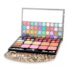 Leopard Muster Fall Professionelle 72-in-1 Cosmetic Makeup Kit - Gelb + Schwarz