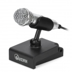 SHM-308 Desktop Mini Microphone w/ Holder Stand - Silver (3.5mm Plug / 170cm-Cable)