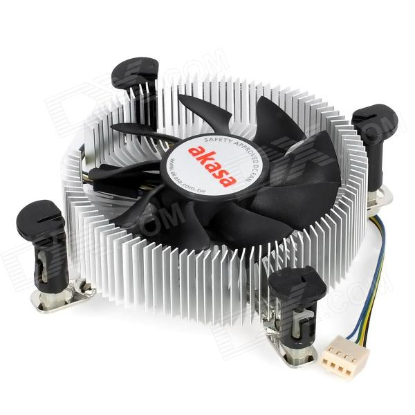 Akasa AK-CC7106HP Low Profile CPU Cooler Fan for Intel LGA775 / LGA1155 / LGA1156 - Silver + Black