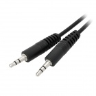 Extensión Audio de 3.5 mm macho a macho Cable - negro (3m)