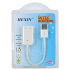 HEXIN Universal USB 2.0 External Sound Card Adapter for Laptop - White