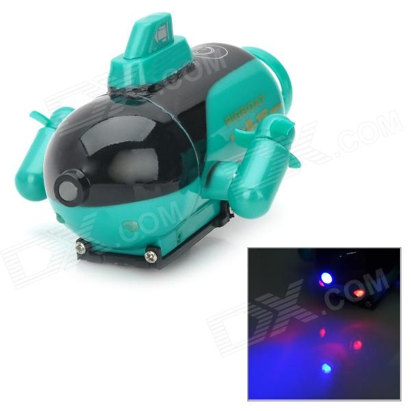 777-219 Rechargeable 1-Channel Radio Control R/C Submarine Toy - Green