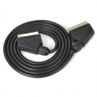SCART 21-Pin Male to Male Cable - Black (163cm)