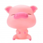 Cute Cartoon Pig Figure Doll Toy w/ Suction Cup - Pink
