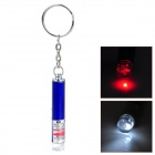 Mini Aluminum Alloy 1-LED 2-Mode Weiße Taschenlampe w / 5mW rote Laser (3 x LR41 / Random Color)