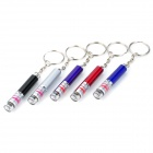 Mini Aluminum Alloy 1-LED 2-Mode White Flashlight w/ 5mW Red Laser (3 x LR41 / Random Color)