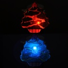 SD-144 Christmas Tree Pattern Red Blue Light LED Badges - Green + Yellow (25 PCS / 3 x AG3)