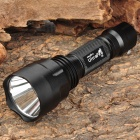 UltraFire C8 Cree XR-E Q5 350lm 5-Mode Memory White Light Flashlight - Black (1 x 18650)