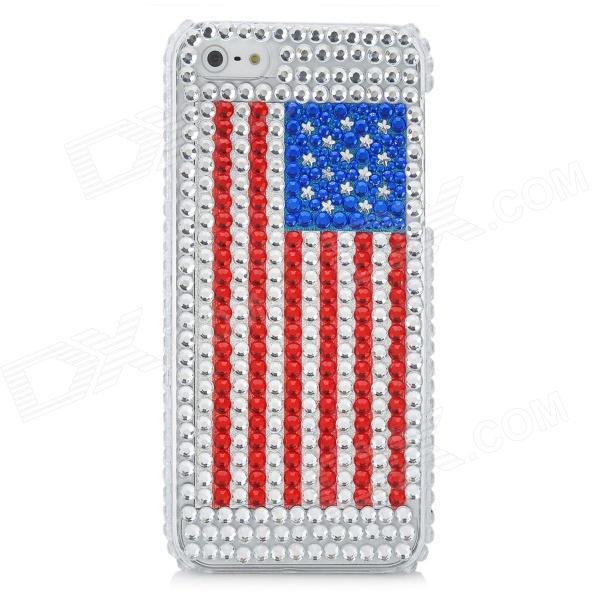 American National Flag Pattern Protective CrystalPlastic Case for Iphone 5 american national security third edition