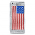 American National Flag Pattern Protective CrystalPlastic Case for Iphone 5