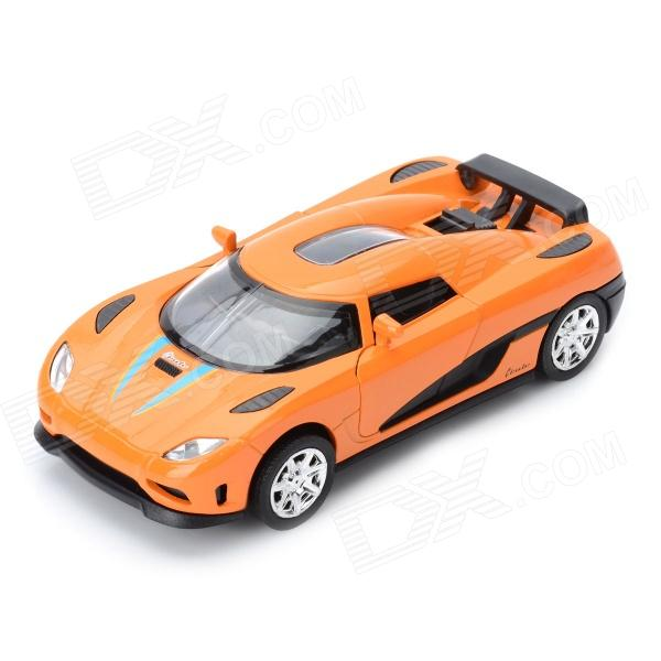 Multifunction Aluminum Alloy Pull Back Car Toy - Orange + Black (3 x LR1130)