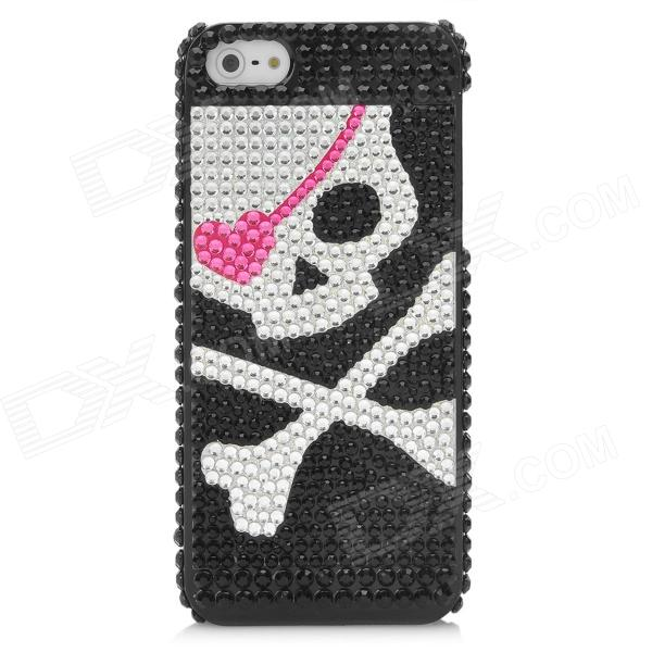 Cool Pirate Pattern Protective CrystalPlastic Case for Iphone 5 - Black + Silver + Pink cilek перегородка безопасности cilek black pirate арт ks 1702