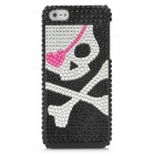 Cool Pirate Pattern Protective CrystalPlastic Case for Iphone 5 - Black + Silver + Pink