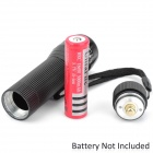 Wolf-Eyes 0021 210lm 3-Mode White Zooming Flashlight - Black (1 x 18650 / 3 x AAA)