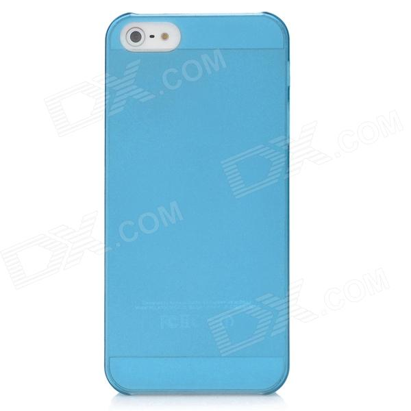 Protective Ultra-Thin Matte PC Back Case for Iphone 5 - Blue