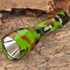 UltraFire C8 Cree XR-E Q5 265lm 5-Mode Memory White Light Flashlight - Camouflage Green (1 x 18650)