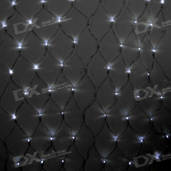 1M*1M Solar Self-Recharge 96-LED Multi-color Christmas/Ornamental Net Lights