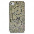 Retro Bike Pattern Protective Plastic Back Case for Iphone 4 / 4S - Grey