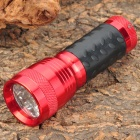 Aluminum Alloy 14-LED 380~400nm Purple Light UV Flashlight - Red (1 x 18650 / 3 x AAA)