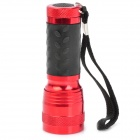 Aluminum Alloy 14-LED 380~400nm Purple Light UV Flashlight - Red (3 x AAA)