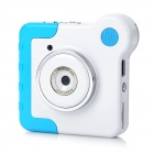 Mini 1.3MP CMOS Kids Digital Rotatable Camera Toy w/ TF / USB - Blue + White