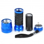 Aluminum Alloy 14-LED 380~400nm Purple Light UV Flashlight - Blue (3 x AAA)