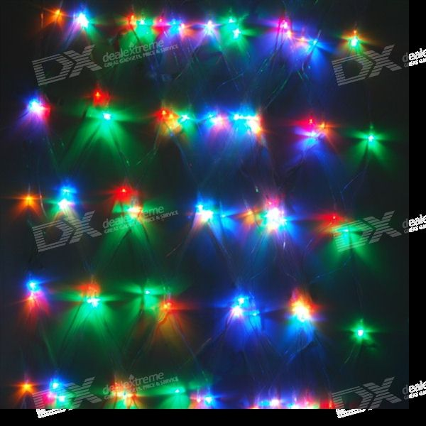 2M*3M 200-LED Multi-color Christmas/Ornamental Net Lights (220V AC)