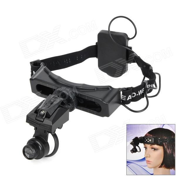 9892D Headset Watch Repair Magnifier Tool w/ LED White Light - Black