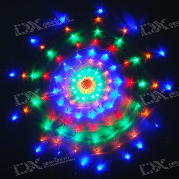 120-LED Multi-color Christmas/Ornamental Net Lights (220V AC)