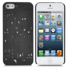 Protective 3D Castle Pattern Back Cover Case for iPhone 5 - Black