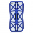 Stylish Mesh Style Protective ABS Back Case for iPhone 5 - Blue
