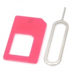 Micro SIM Card to Standard SIM Card Adapter - Red