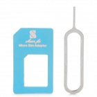 Micro SIM Card to Standard SIM Card Adapter - Blue