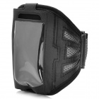 Trendy Sports Mesh Style Armband for Iphone 5 - Black + Grey