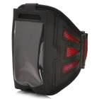 Trendy Sports Mesh Style Armband for Iphone 5 - Black + Red