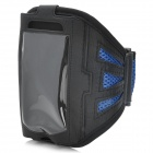 Trendy Sports Mesh Style Armband for Iphone 5 - Black + Blue