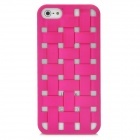 Cool Woven Hollow-out Grid Back Cover Case for Iphone 5 - Red