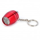 Mini Aluminum Alloy 6-LED White Light Flashlight Keychain - Red (3 x LR1130)