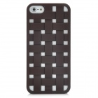 Cool Woven Hollow-out Grid Back Cover Case for Iphone 5 - Coffee